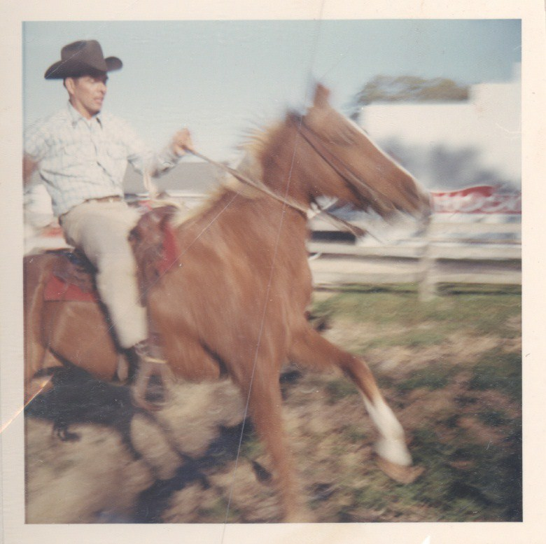 Fred G Feldman on a horse