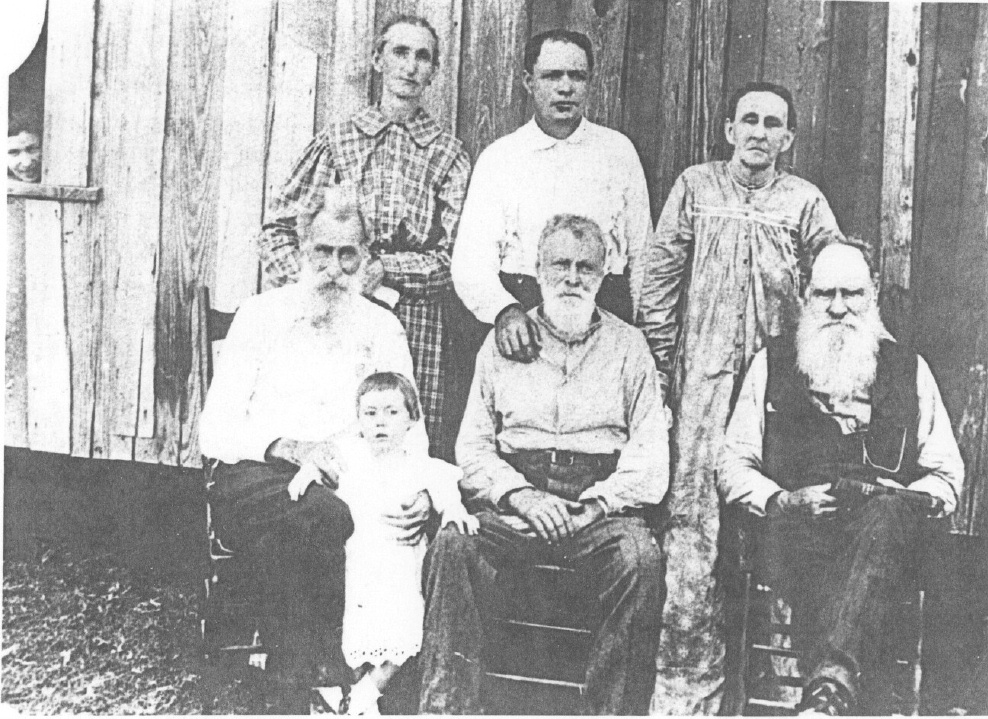 Thacker family reunion in Mineola, Wood County, Texas(about 1900)